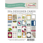 Echo Park - Getaway Collection - 3 x 4 Pocket Page Cards - Memos