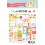 Echo Park - Hello Summer Collection - 4 x 6 Pocket Page Cards - Memos