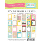 Echo Park - Summer Lovin Collection - 3 x 4 Pocket Page Cards - Memos