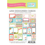 Echo Park - Summer Lovin Collection - 4 x 6 Pocket Page Cards - Memos
