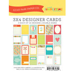 Echo Park - Sweet Summertime Collection - 3 x 4 Pocket Page Cards - Memos