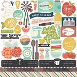 Echo Park - Made From Scratch Collection - 12 x 12 Cardstock Stickers - Elements