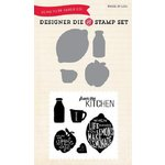 Echo Park - Made From Scratch Collection - Designer Die and Clear Acrylic Stamp Set - Free Range