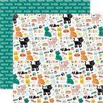 Echo Park - Meow Collection - 12 x 12 Double Sided Paper - Cat Icons