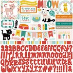 Echo Park - Meow Collection - 12 x 12 Cardstock Stickers - Elements