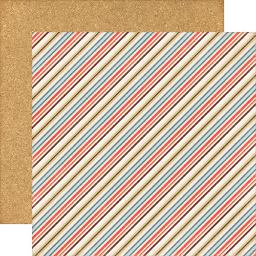 Echo Park - Note to Self Collection - 12 x 12 Double Sided Paper - Stripes