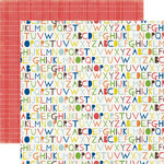 Echo Park - Paper and Glue Collection - 12 x 12 Double Sided Paper - Alphabet