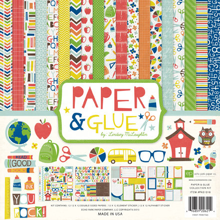 Echo Park - Paper and Glue Collection - 12 x 12 Collection Kit