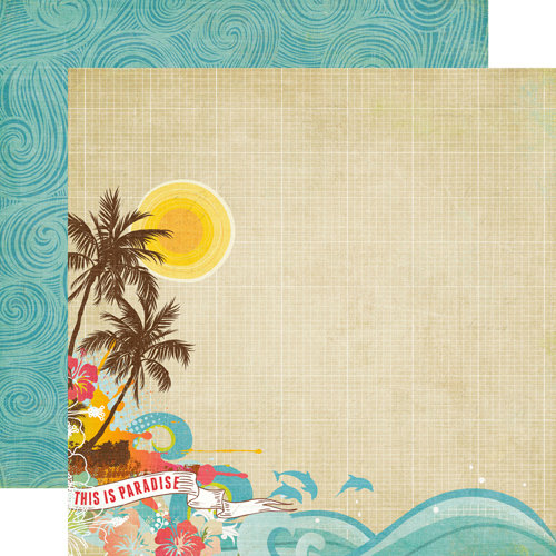 Echo Park - Paradise Beach Collection - 12 x 12 Double Sided Paper - Paradise