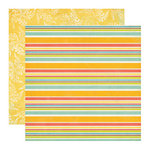 Echo Park - Paradise Beach Collection - 12 x 12 Double Sided Paper - Cabana Stripe