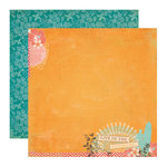 Echo Park - Paradise Beach Collection - 12 x 12 Double Sided Paper - Sunshine