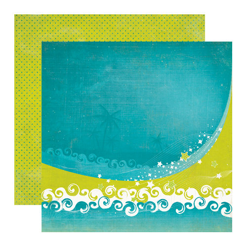 Echo Park - Paradise Beach Collection - 12 x 12 Double Sided Paper - Ride the Wave