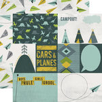 Echo Park - Photo Freedom - Boys Rule Collection - 12 x 12 Double Sided Paper - Cars and Planes