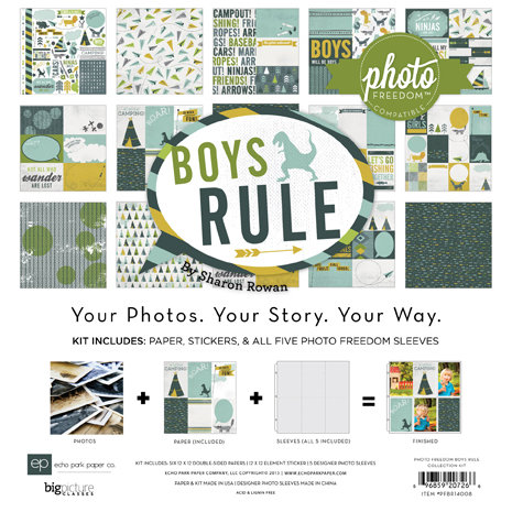 Echo Park - Photo Freedom - Boys Rule Collection - 12 x 12 Collection Kit