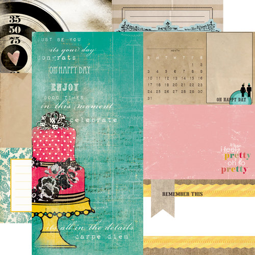 Echo Park - Birthday Wishes Collection - 12 x 12 Double Sided Paper - Cake Stand