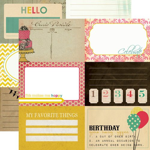 Echo Park - Birthday Wishes Collection - 12 x 12 Double Sided Paper - Celebrate