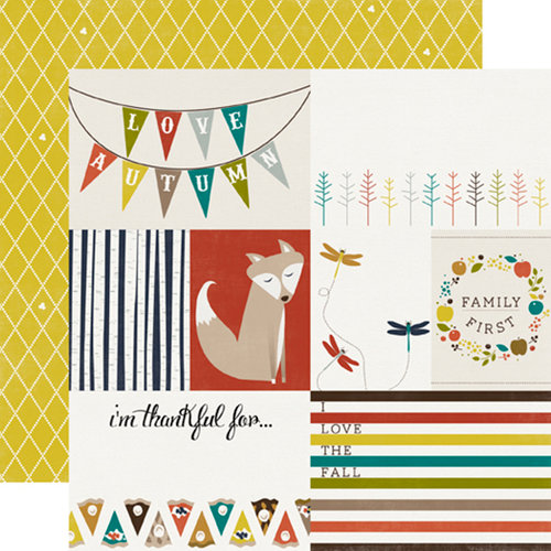 Echo Park - Oh So Thankful Collection - 12 x 12 Double Sided Paper - Love the Fall