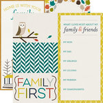 Echo Park - Oh So Thankful Collection - 12 x 12 Double Sided Paper - Family First