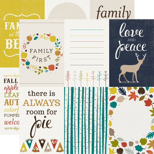 Echo Park - Oh So Thankful Collection - 12 x 12 Double Sided Paper - Fall Festival