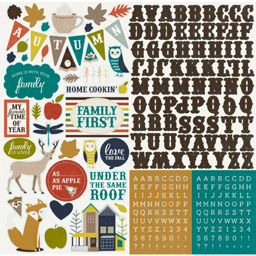 Echo Park - Oh So Thankful Collection - 12 x 12 Cardstock Stickers - Elements