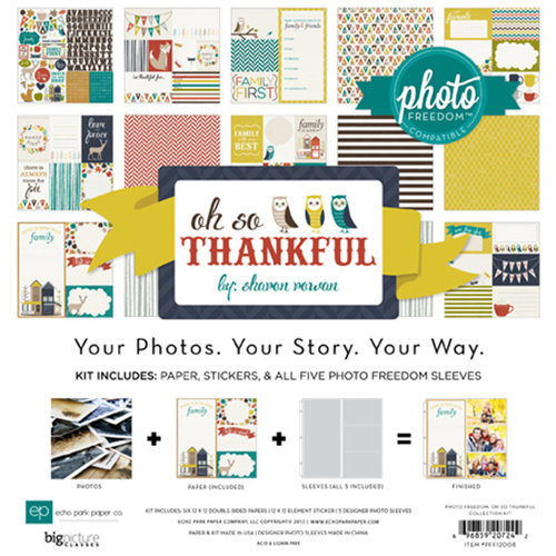 Echo Park - Oh So Thankful Collection - 12 x 12 Collection Kit