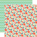 Echo Park - Happy Go Lucky Collection - 12 x 12 Double Sided Paper - Happy Floral