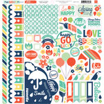 Echo Park - Happy Go Lucky Collection - 12 x 12 Cardstock Stickers - Elements