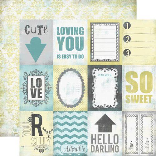 Echo Park - Happy Little Moments Collection - 12 x 12 Double Sided Paper - So Sweet