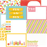 Echo Park - Fun in the Sun Collection - 12 x 12 Double Sided Paper - Fun in the Sun
