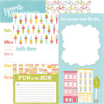Echo Park - Fun in the Sun Collection - 12 x 12 Double Sided Paper - Sidewalk