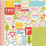 Echo Park - Fun in the Sun Collection - 12 x 12 Cardstock Stickers - Elements