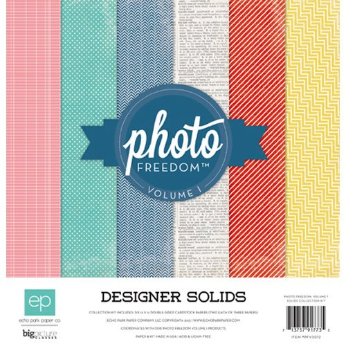 Echo Park - Photo Freedom Volume 1 Collection - Designer Solids - 12 x 12 Collection Kit