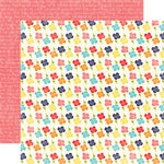 Echo Park - Playground Collection - 12 x 12 Double Sided Paper - Red Rover
