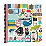 Echo Park - Pirates Life Collection - 12 x 12 Cardstock Stickers - Elements