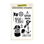 Echo Park - Pirates Life Collection - Clear Acrylic Stamps - Ahoy Mateys