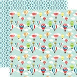 Echo Park - A Perfect Summer Collection - 12 x 12 Double Sided Paper - Hot Air Balloons