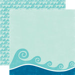Echo Park - A Perfect Summer Collection - 12 x 12 Double Sided Paper - Waves