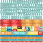 Echo Park - A Perfect Summer Collection - 12 x 12 Cardstock Stickers - Alphabet