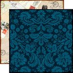 Echo Park - Reflections Collection - 12 x 12 Double Sided Paper - Darling Damask