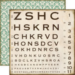 Echo Park - Reflections Collection - 12 x 12 Double Sided Paper - Optical Chart