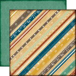 Echo Park - Reflections Collection - 12 x 12 Double Sided Paper - Reflection Rulers