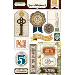 Echo Park - Reflections Collection - Layered Chipboard Stickers