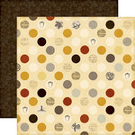 Echo Park - Reflections Collection - Fall - 12 x 12 Double Sided Paper - Fall Dots