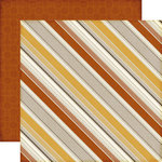 Echo Park - Reflections Collection - Fall - 12 x 12 Double Sided Paper - Autumn Stripes