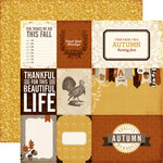 Echo Park - Reflections Collection - Fall - 12 x 12 Double Sided Paper - Count Your Blessings