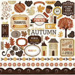 Echo Park - Reflections Collection - Fall - 12 x 12 Cardstock Stickers - Elements