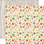 Echo Park - Summer Bliss Collection - 12 x 12 Double Sided Paper - Summer Treats