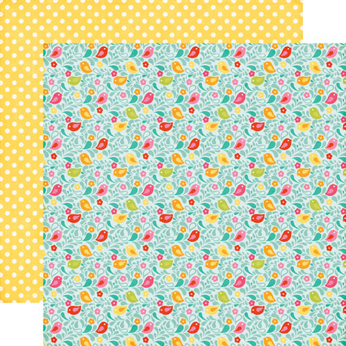 Echo Park - Summer Bliss Collection - 12 x 12 Double Sided Paper - Birdie Bliss