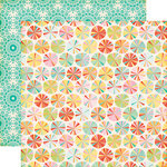 Echo Park - Summer Bliss Collection - 12 x 12 Double Sided Paper - Summer Circles