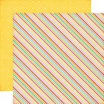 Echo Park - Summer Bliss Collection - 12 x 12 Double Sided Paper - Summer Stripes